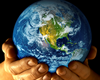 Earth Mother Picture of Globe in Hands